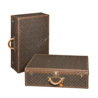 suitcases (2 works) by louis vuitton