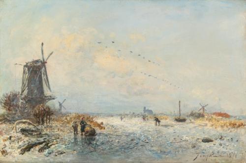 scène dhiver en hollande by johan barthold jongkind