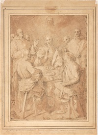 cena in emmaus by pontormo (jacopo carucci)
