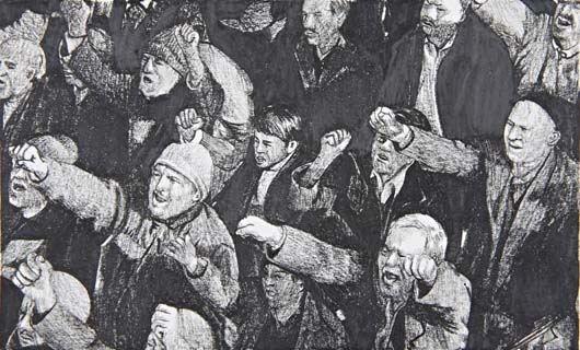 untitled demonstration no 134 by rirkrit tiravanija