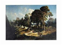 effect near noon-along the appian way by george loring brown
