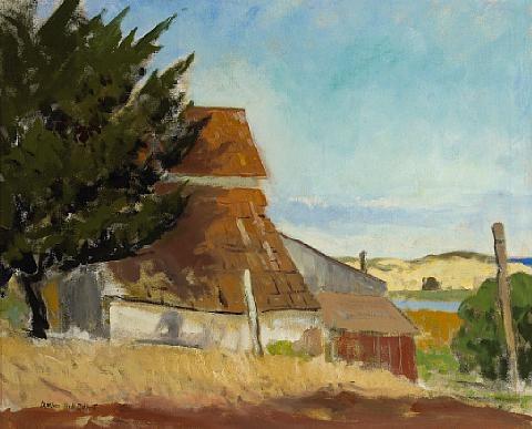 old barn by arthur hill gilbert