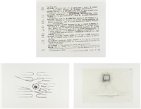 untitled; untitled; and untitled (set of 3) by robert gober