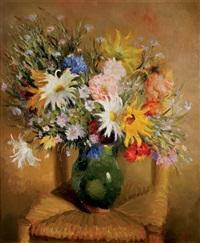 bouquet au vase vert by marcel dyf
