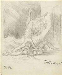 hero embracing the drowned leander by henry fuseli