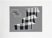 black and white op-art formulation by josef albers