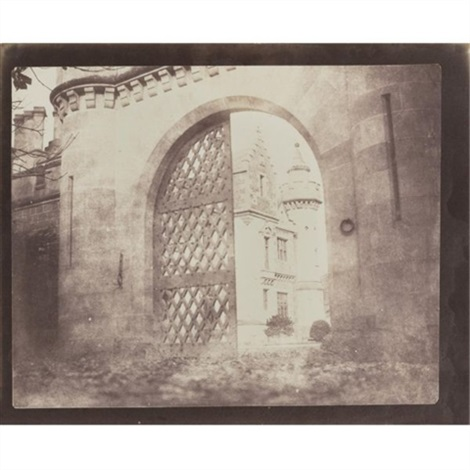 entrance gate abbotsford by william henry fox talbot