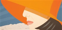 orange hat, from alex and ada, the 1960's to the 1980's by alex katz