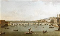 the thames and old westminster bridge looking towards westminster abbey by samuel scott