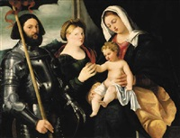 the madonna and child with saints catherine of alexandria and george by bernardino licinio