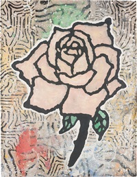 pink rose by donald baechler