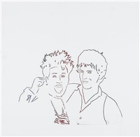 aretha franklin and keith richards by andy warhol