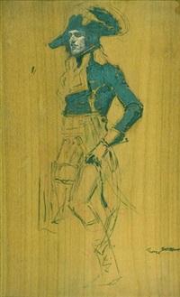 portrait de bonaparte en egypte by george gilbert (sir) scott