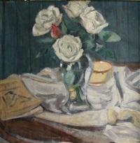 vase de roses by adrien bas