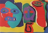 three figures by karel appel