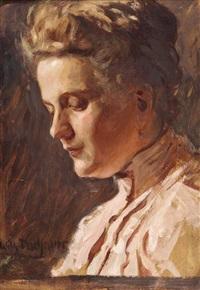 damenporträt by wilhelm dachauer