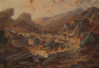 patrouille im gebirge by c. haase