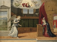 the annunciation by girolamo da santacroce