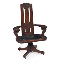 desk chair by charles rohlfs