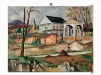 landscape with pavilion by friedrich (fritz) ahlers-hestermann