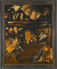 the furnace of hell by hieronymus bosch