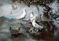 eight doves by lee man fong