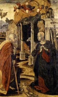 the nativity, with god the father above by girolamo di benvenuto del guasta