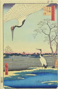 minowa, kanasugi at mikawashima by ando hiroshige