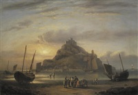 st michael's mount by thomas luny