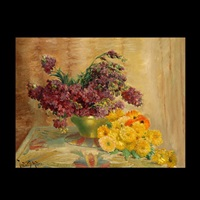 floral still life by theodore p. modra
