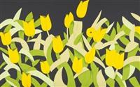yellow tulips by alex katz