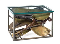 musical instrument table by arman