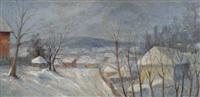 winter landscape by géza kádár