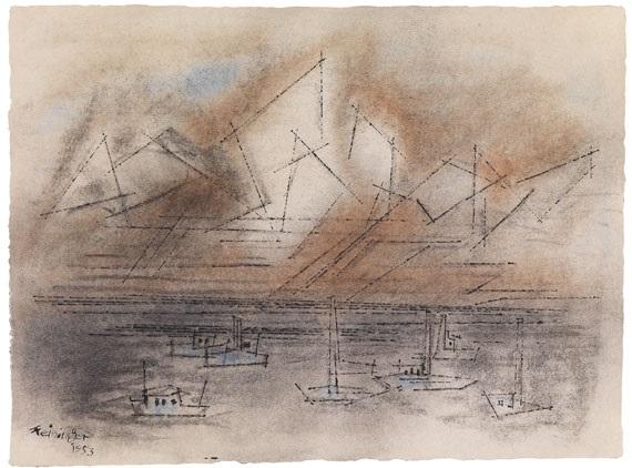 schiffe auf see by lyonel feininger