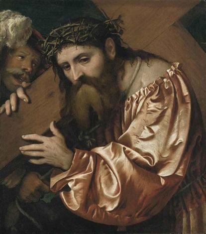 christ carrying the cross by romanino girolamo romani