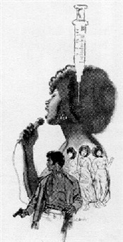 black songstress, hypodermic, private eye by mitchell hooks