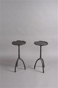 paire de petites tables by christian liaigre