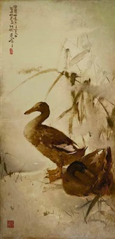 two ducks by lee man fong