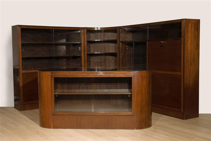 vier m bel aus einem herrenzimmer von erich dieckmann auf artnet. Black Bedroom Furniture Sets. Home Design Ideas