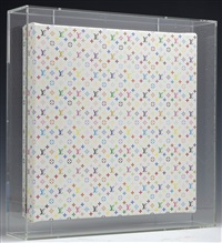 monogram mini multicolore-white by takashi murakami