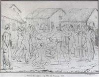 danse de nsgres à l'ile de france by jacques etienne victor arago