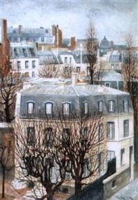 paris - vue du 19 rue michel-ange by andré renoux