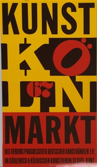 kölner kunstmarkt by robert indiana