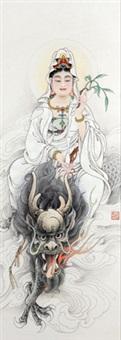 观世音菩萨 (avalokitesvara bodhisattva) by li tang