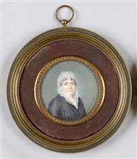 portrait de femme en buste de trois-quarts vers la droite by joseph boze
