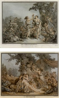 les quatre saisons (4 works) by gilles-antoine demarteau