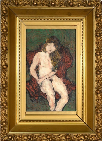nude in red chair by chaïm soutine