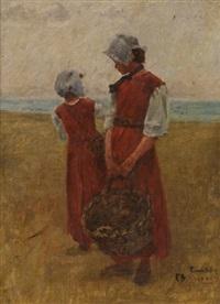 deux femmes sur la plage by pierre billet