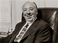 alfred hitchcock in his office by sid avery