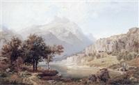 sommerdag ved en bjergso by wilhelm porttmann